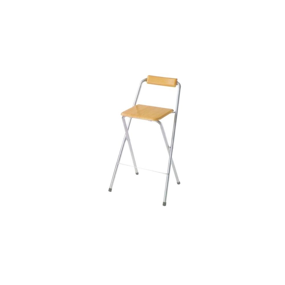2 Piece Folding Bar Chairs Silvertone - Ore International, Silver