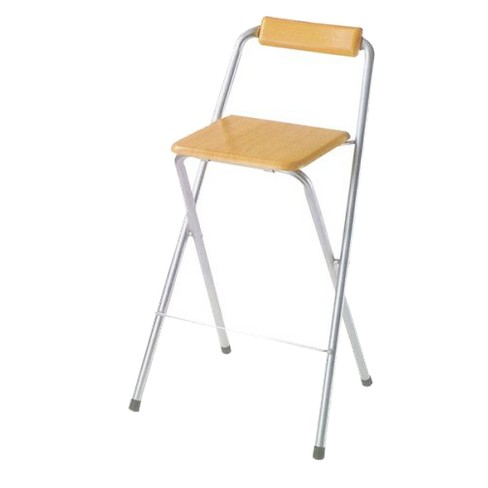 2 Piece Folding Bar Chairs Silvertone - Ore International® - image 1 of 1