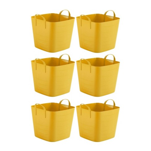 Life Story Tub Basket 10.5 Gallon Plastic Storage Tote Bin with Handles (6 Pack) - image 1 of 2