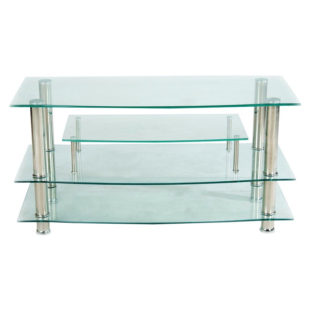 Glass 37 TV Stand Clear - Home Source Industries