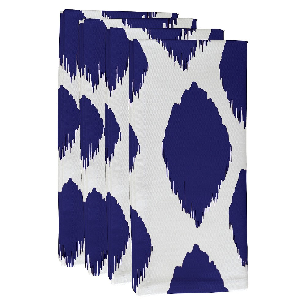 "Image of ""Dazzling Blue Abstract Throw Napkin Set (19""""X19"""") - E By Design"""
