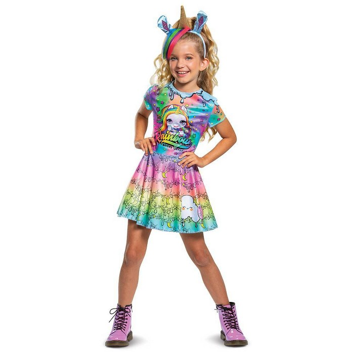 Girls' LOL Surprise! Poopsie Slime Unicorn Rainbow Brightstar Deluxe Halloween Costume - image 1 of 1