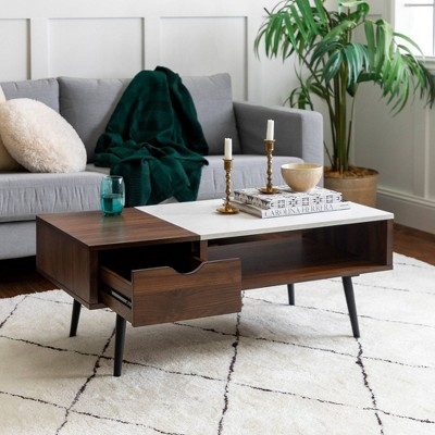 Tapered Leg Mid Century Modern Storage Coffee Table - Saracina Home : Target