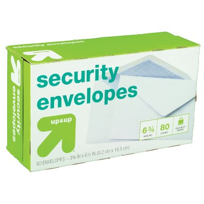 80ct Security Envelopes White - up & up™