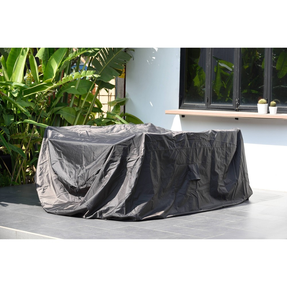 Image of Rectangular and Waterproof Patio Cover for Dining Set - Atlantic