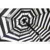 Parasol 6' Italian Aluminum Collar Tilt Beach Umbrella - Black/White Stripe - image 3 of 4