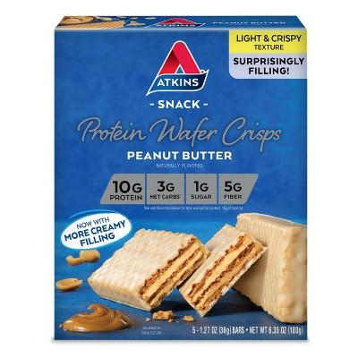 Atkins Protein Wafer Crisps - Peanut Butter - 5ct