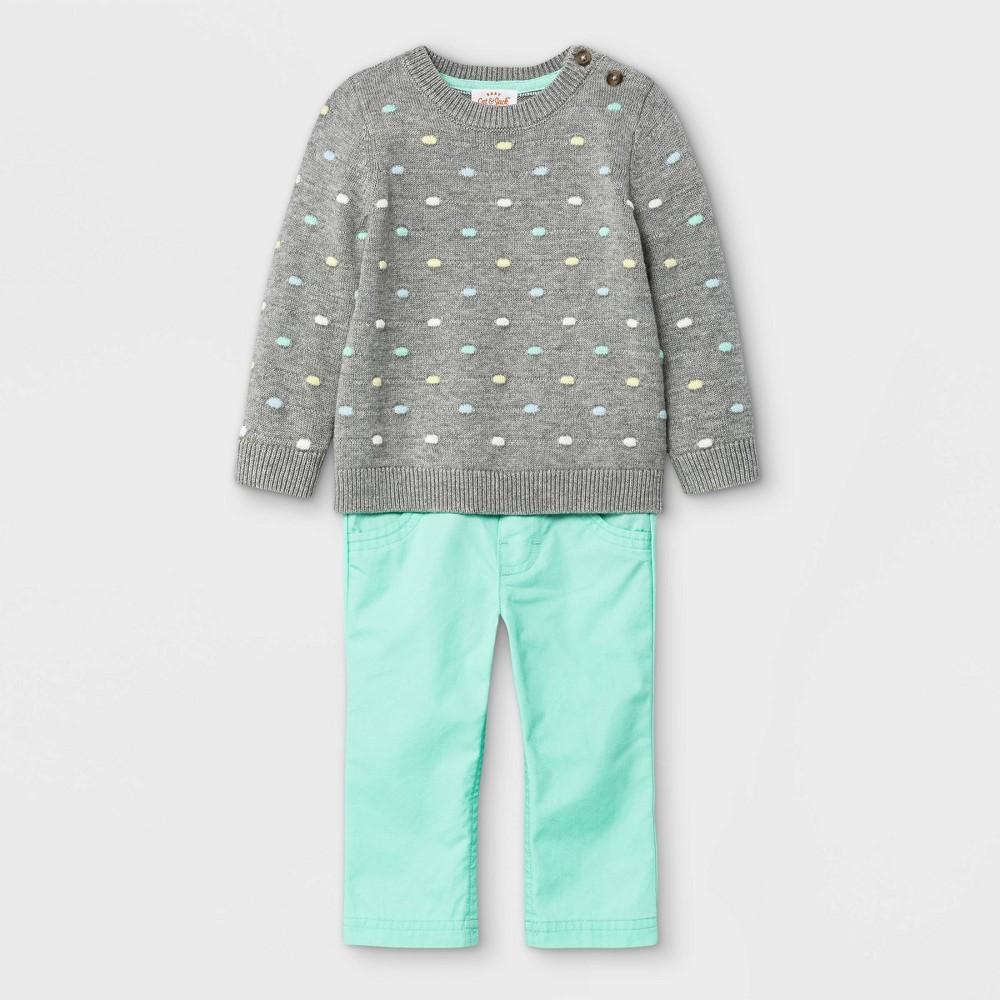 Baby Boys 39 Bobble Sweater Top 38 Bottom Set Cat 38 Jack 8482 Gray 3 6m