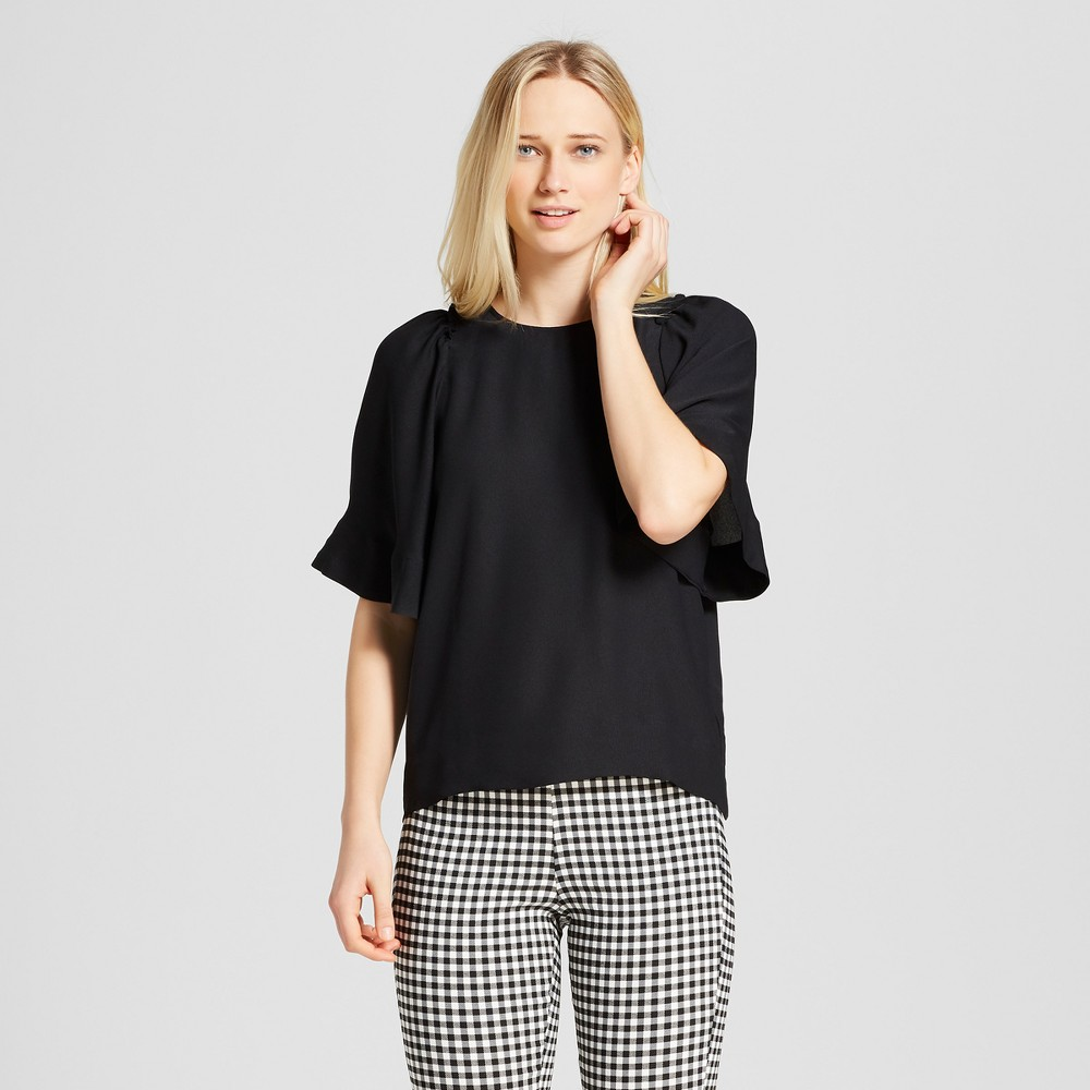 Women's Short Exaggerated Sleeve Blouse - Who What Wear Black XL