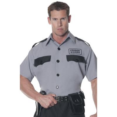 Underwraps Prison Guard Shirt Plus Size Costume, 2X-Large