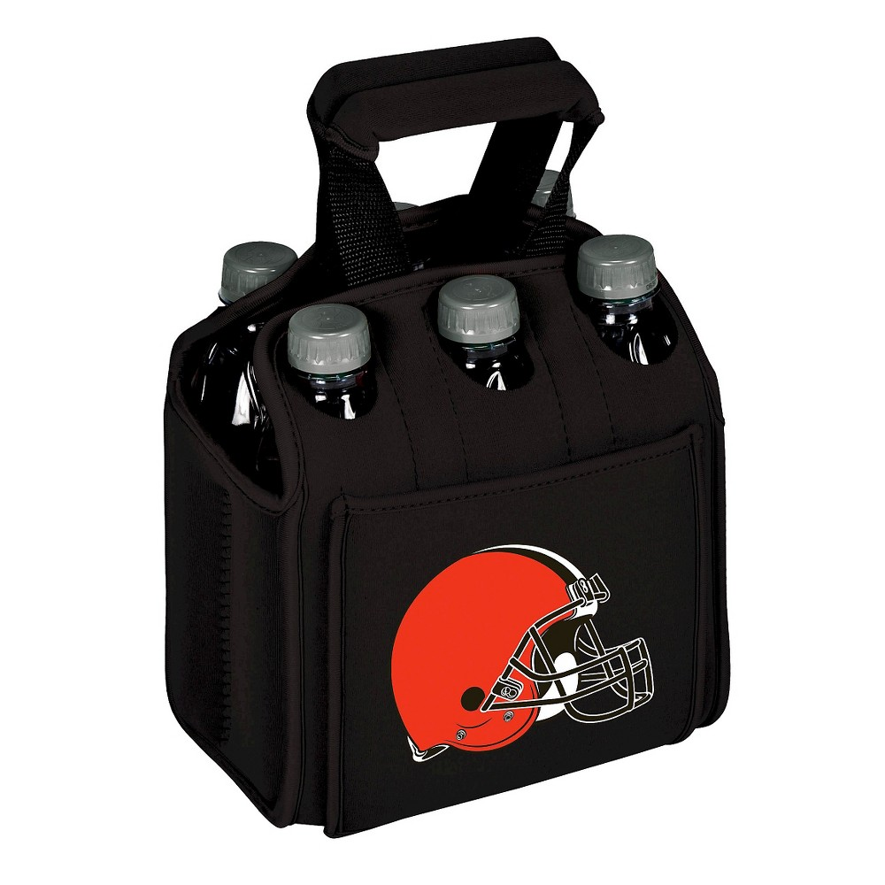 Cleveland Browns - Six Pack Beverage Carrier by Picnic Time (Black)