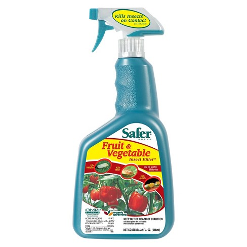 Fruit and Vegetable Insect Killer 32 Fl Oz Ready-to-Use Spray - Safer Brand - image 1 of 1
