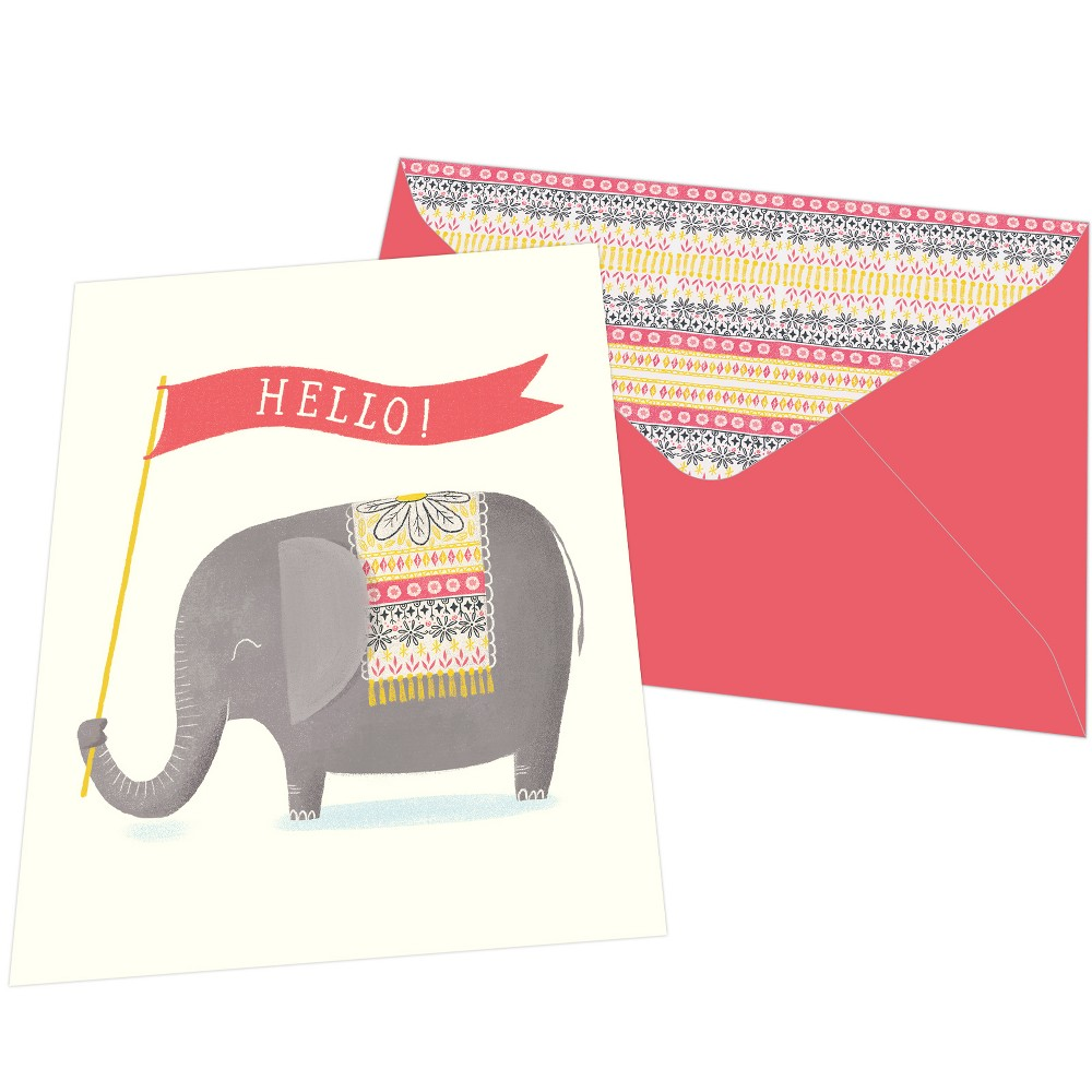 Image of 10ct Elephant Print Blank Card