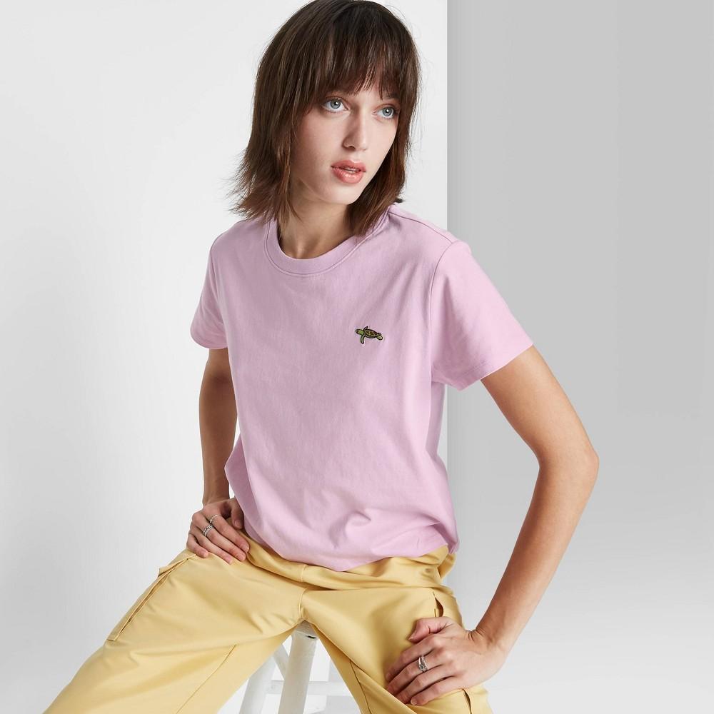 Women 39 S Short Sleeve Shrunken Boxy T Shirt Wild Fable 8482 Purple Xl