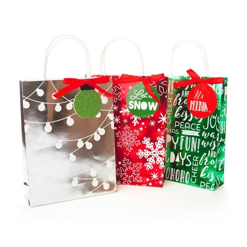 3ct Foil Bag Flocked Gift Card Holder - Wondershop™ - image 1 of 1
