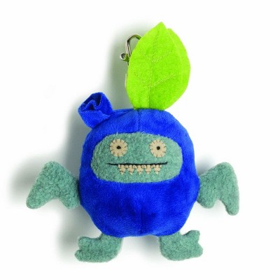"Enesco Ugly Dolls Fruities 4"" Plush Clip-On: Ice-Bat Blueberry"