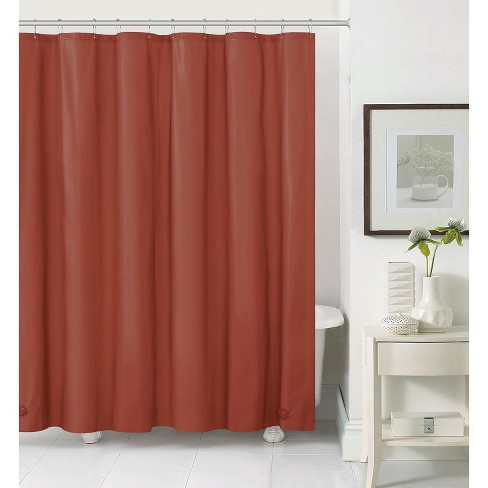 Kate Aurora Spa Living Rust/Spice 100% Water Repellent PEVA Shower Curtain Liner - Standard Size - image 1 of 1