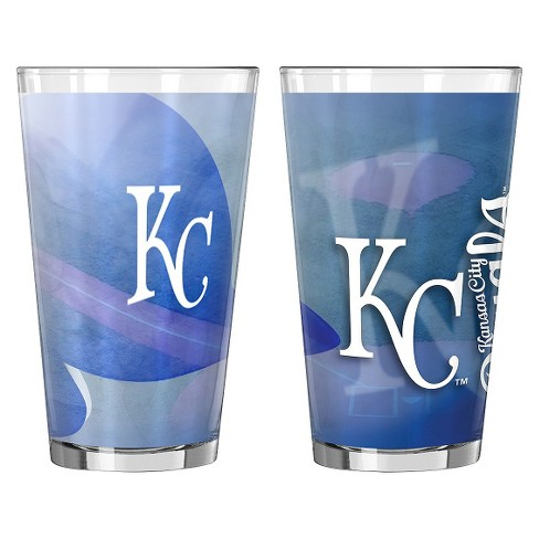 Boelter Brands MLB Kansas City Royals Set of 2 Shadow Pint Glass - 16oz - image 1 of 1