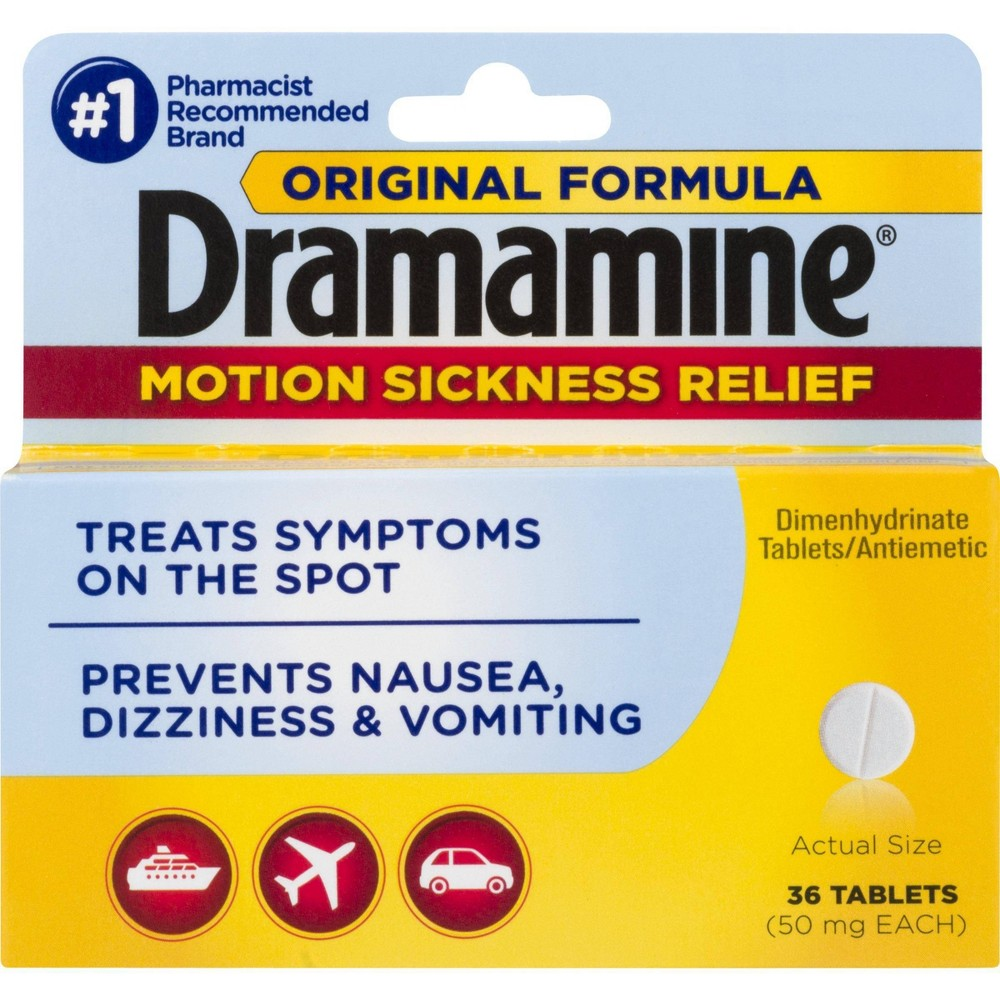 Dramamine Motion Sickness Tablets - 36ct