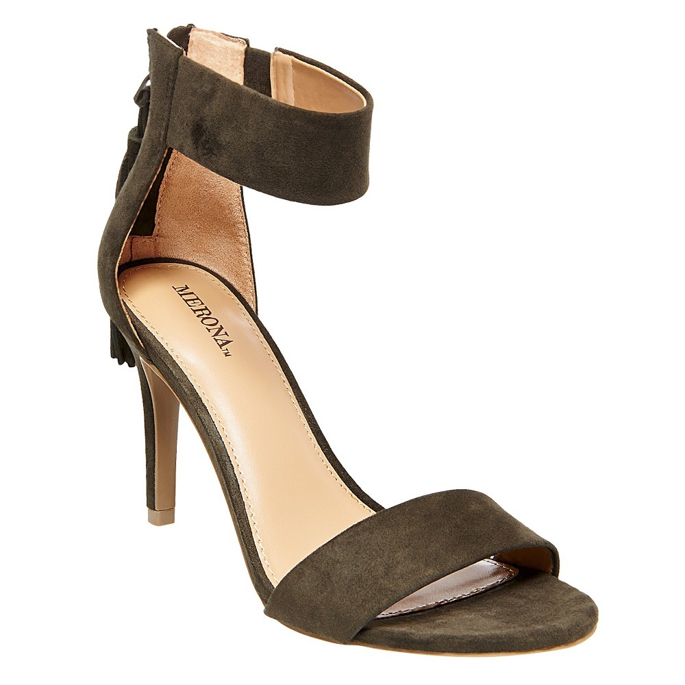 Women's Kelly Heeled Sandals - Merona Olive (Green) 5.5