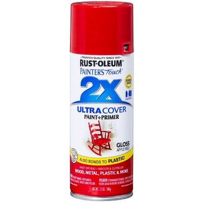 Rust-Oleum 12oz 2X Painter's Touch Ultra Cover Gloss Spray Paint Red