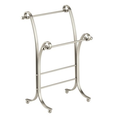 mDesign Fingertip Towel Holder for Bath Vanity Countertops - Satin