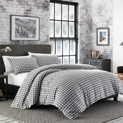 Gray Preston Duvet Cover Set (King)- Eddie Bauer