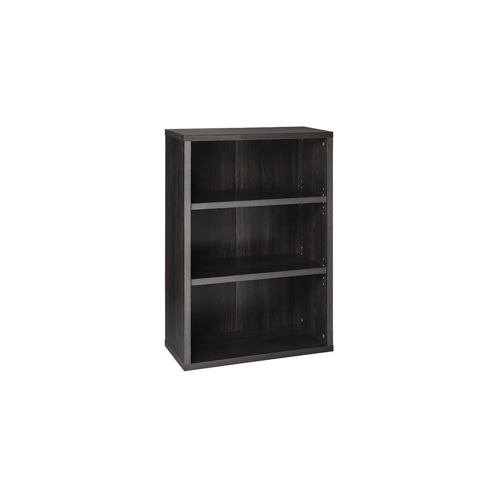 """Image of """"44.28"""""""" 3 Shelf Bookcase Black/Walnut - ClosetMaid"""""""