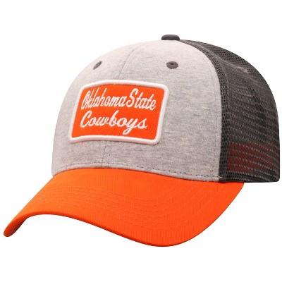 NCAA Oklahoma State Cowboys Men's Gray Cotton with Mesh Snapback Hat