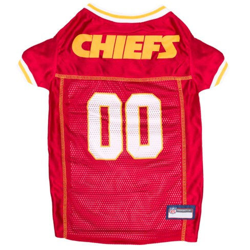 Kansas City Chiefs Pets First Mesh Pet Football Jersey - Red S   Target 1d2d34419