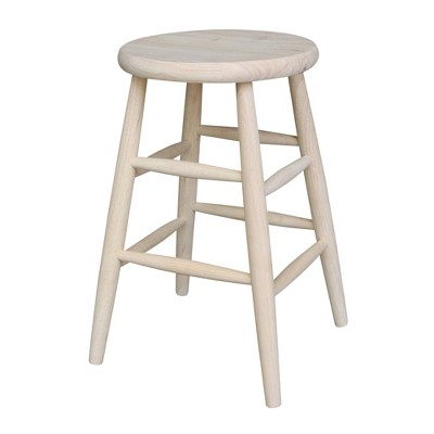 """24"""" Scooped Seat Counter Height Barstool Unfinished - International Concepts"""