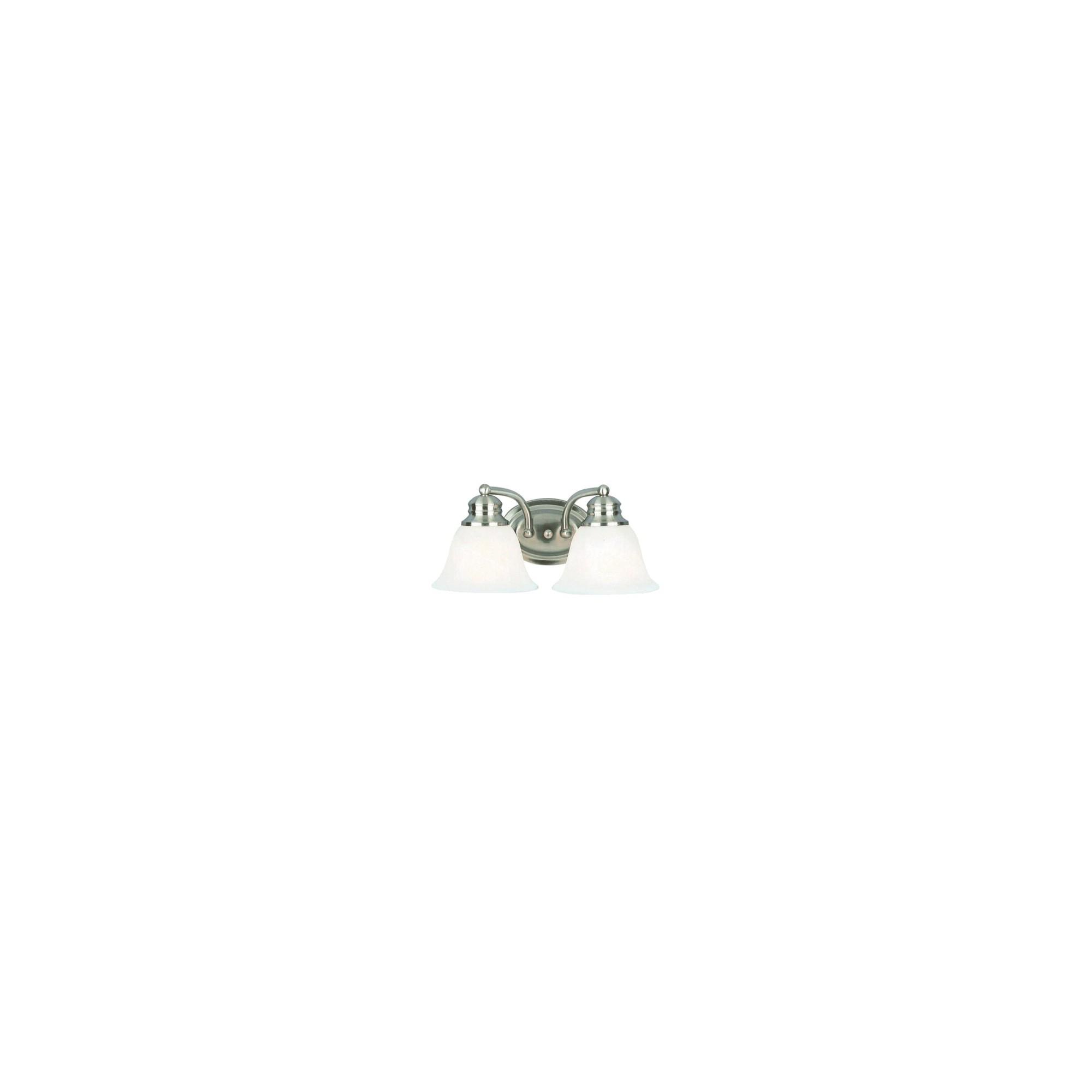 Orleans 2 Light Vanity - Nickel