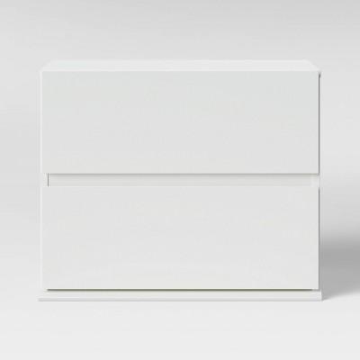 2 Drawer Modular Nightstand White - Room Essentials™