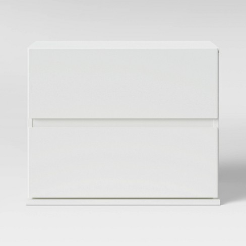 2 Drawer Modular Nightstand White - Room Essentials™ - image 1 of 4