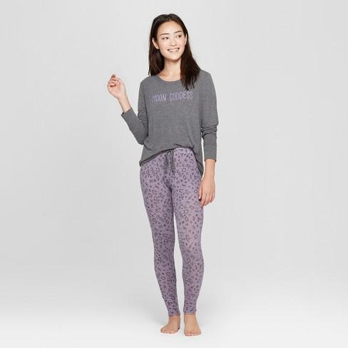 606483e59b70 Women s Cozy Pajama Set - Xhilaration™ Purple L   Target