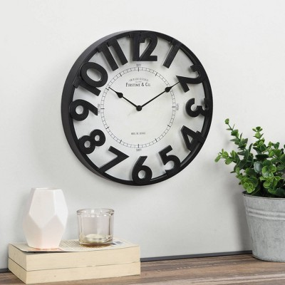 """11"""" Manor Park Wall Clock Oil Rubbed Bronze - FirsTime"""