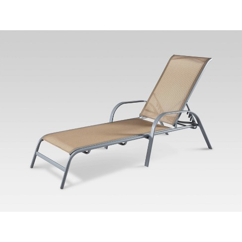 Admirable Stack Sling Patio Chaise Lounge Chair Tan Threshold Inzonedesignstudio Interior Chair Design Inzonedesignstudiocom