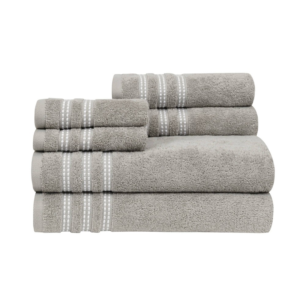 6pc Sabina Bath Towel Set Gray Caro Home