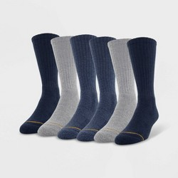 Signature Gold by Goldtoe Men's Repreve Crew Socks 6pk