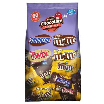 Mars Fun Size Chocolate Favorites Variety Pack - 31.18oz