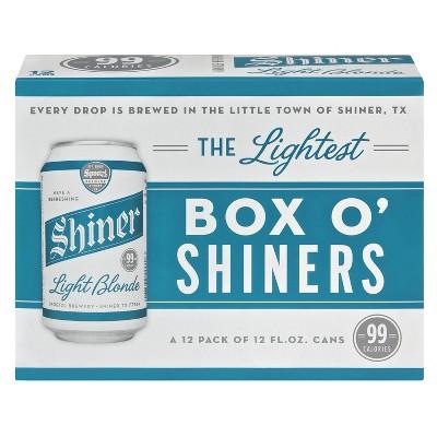 Shiner Light Blonde Beer - 12pk/12 fl oz Cans