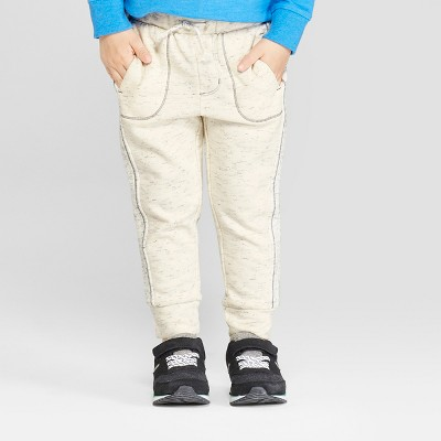 Toddler Boys' French Terry Nep Jogger Pants - Cat & Jack™ - Cream 12M
