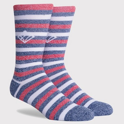 PKWY by Dwyane Wade Men's Striped USA A-Line Stairs Crew Socks - Red/White/Blue L