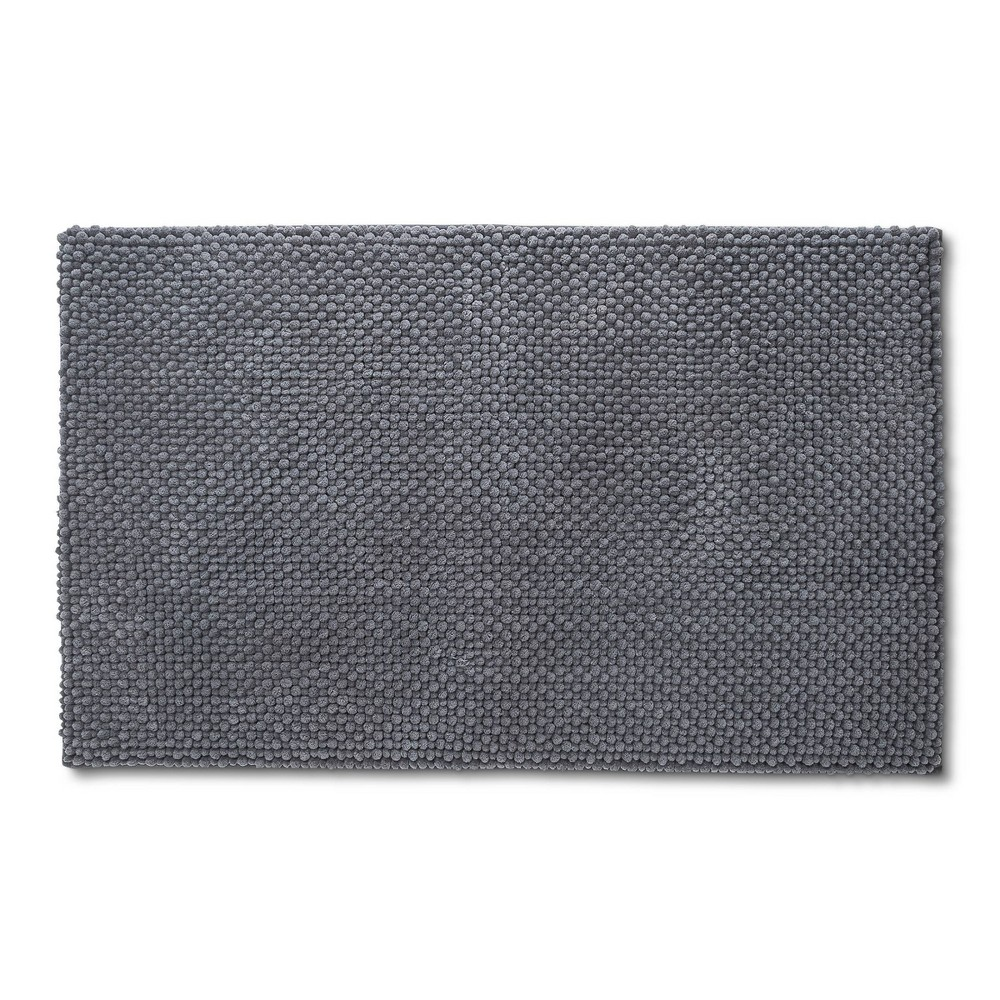 "Image of ""20"""" x 34"""" Low Chenille Radiant Memory Foam Bath Rug Radiant Gray - Threshold"""