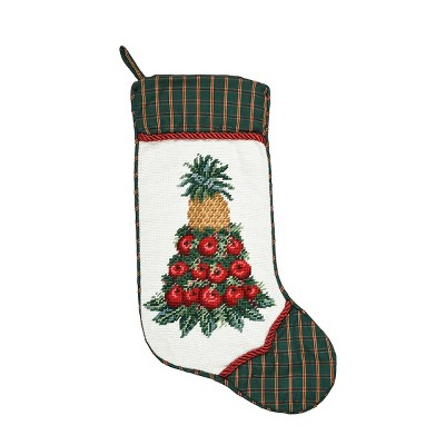 C&F Home Colonial Williamsburg Apple Cone Needlepoint  Stocking