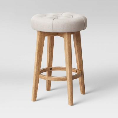Allendale Backless Swivel Tufted Counter Height Barstool - Threshold™
