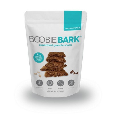 BoobieBark Superfood Granola Snack, Cocoa Crunch - 6.4oz - 1Bag