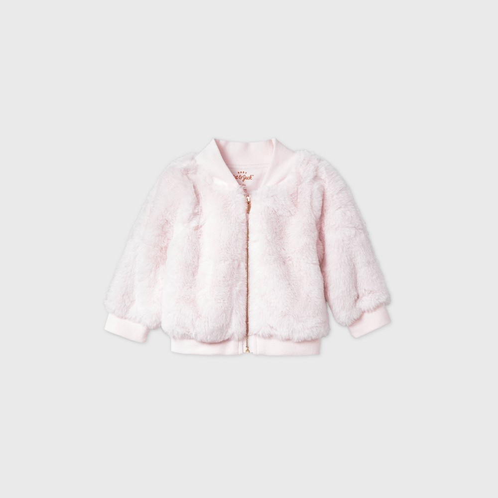 Discounts Baby Girls' Faux Fur Bomber Jacket - Cat & Jack™