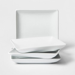 "8"" Porcelain Square Salad Plate White - Threshold™"