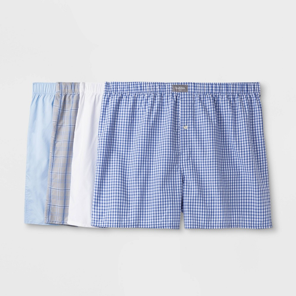 Men's Big & Tall Woven Boxer Shorts 4pk - Goodfellow & Co 2XB, Men's, MultiColored was $15.99 now $10.39 (35.0% off)
